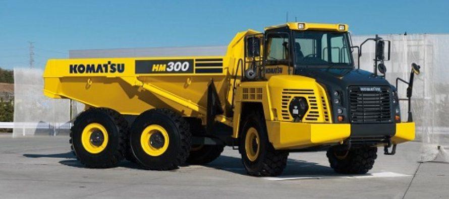 Cel mai recent camion cu sasiu articulat Komatsu – HM300-5