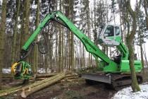 Sennebogen 718 Forestry – un harvester pe şenile special