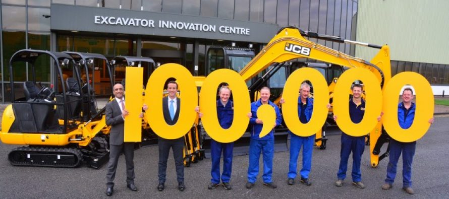 Bornă importantă pentru JCB: producerea miniexcavatorului cu numărul 100.000