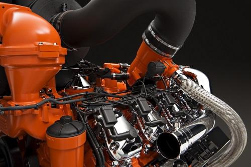 Gazul este amestecat cu aer înainte de a fi injectat în cilindri