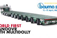Premieră mondială Nooteboom la Bauma: Manoovr de 105 t cu Multidolly