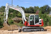 The new TB2150 is the largest excavator in the Takeuchi lineup