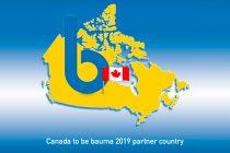 Canada va fi țară parteneră a renumitului târg Bauma, în 2019