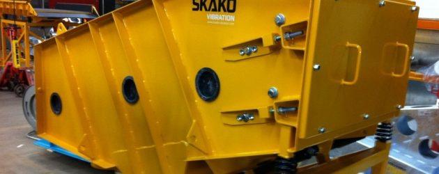 Alimentatoare și ciururi  SKAKO. Ciurul vibrator mediu greu
