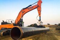 52 de excavatoare Doosan, într-unul dintre cele mai mari proiecte europene de alimentare cu gaz