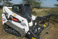 Bobcat extends forestry cutter attachment range