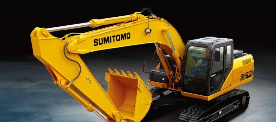 Soluții de control Trimble instalate din fabrică pe excavatoare Sumitomo
