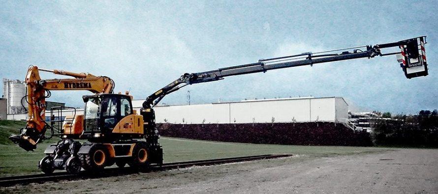 Un nou braţ ridicător pentru excavatoarele Hydrema MX Rail