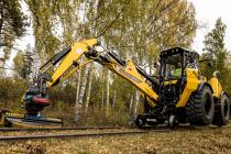 Huddig 1260D RAIL are acum roți de cale ferată acționate hidraulic