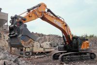 Noul excavator CX750D asigură productivitate semnificativă în carierele de bazalt din Germania