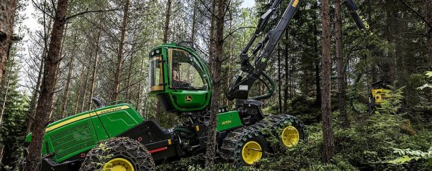 New design in John Deere's new mid-sized G-Series harvesters. IBC now available also for 1170G harvester