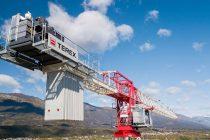Noua macara turn Terex CTT 472-20 flat top de 20 t capacitate are un braț de 80 m