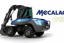 Mecalac e12 este primul excavator pe roți 100% electric, destinat șantierelor urbane
