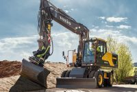 Reach further with the new Volvo E-Series wheeled excavator