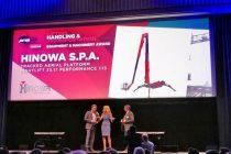 Hinowa, premiată la Intermat Innovation Awards 2018 pentru platforma Lightlift 33.17 Performance IIIS