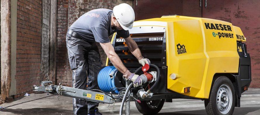 Compresoare electrice Kaeser pentru construcții: emisii zero şi o exploatare economică