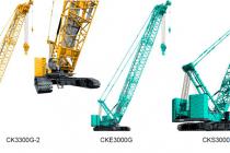 Noi versiuni de macarale pe șenile Kobelco, recent lansate: CK3300G-2, CKE3000G și CKS3000