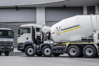 Putzmeister truck mixer with Ergonic Mixer Control system