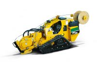 The new Vermeer SPX25 vibratory plow features a full-function remote control for great maneuverability