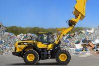 Komatsu showcased the WA380‐8 wheel loader in Waste & Recycling configuration at Intermat 2018
