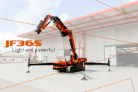 Compact, light and powerful: the new JF365 crane from Jekko