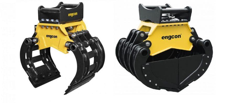 Engcon introduce un nou graifer de sortare pentru mini-excavatoare