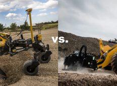 Miniîncărcător compact vs. încărcător frontal compact