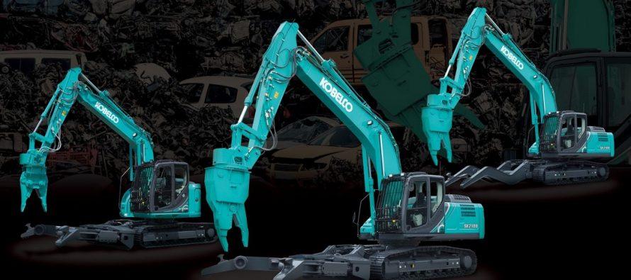 Kobelco își consolidează gama de excavatoare pentru demolări și dezmembrări de vehicule