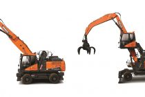 Noul excavator pentru manipularea materialelor Doosan DX250WMH-5 va debuta la Bauma 2019