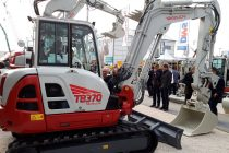 Takeuchi premiered the all-new TB 220e lithium-ion battery excavator at Bauma 2019