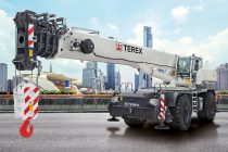 The Terex RT 90 rough terrain crane is cost-effective to transport and operate