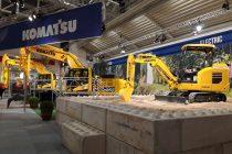 Miniexcavator electric Komatsu, expus în premieră la Bauma 2019