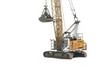 The new HS 8040 HD duty cycle crawler crane. The smallest in the Liebherr-HS series