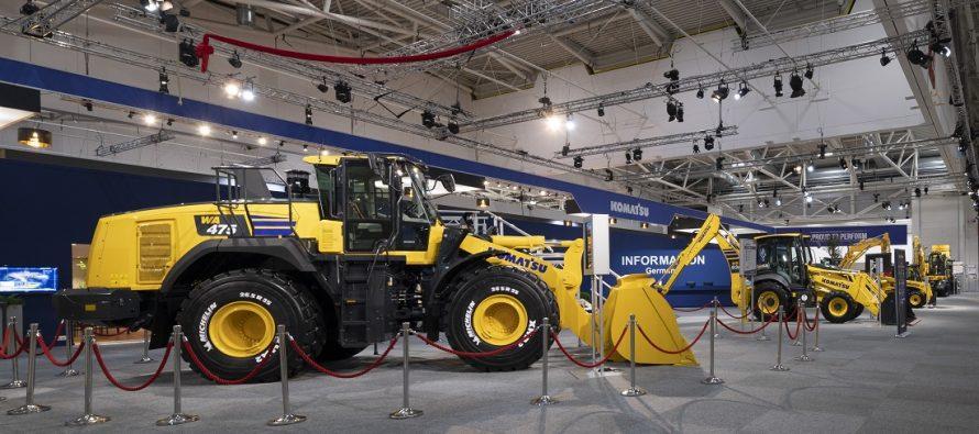 Komatsu Europe a prezentat la Bauma 2019 prototipul încărcătorului frontal WA475-10