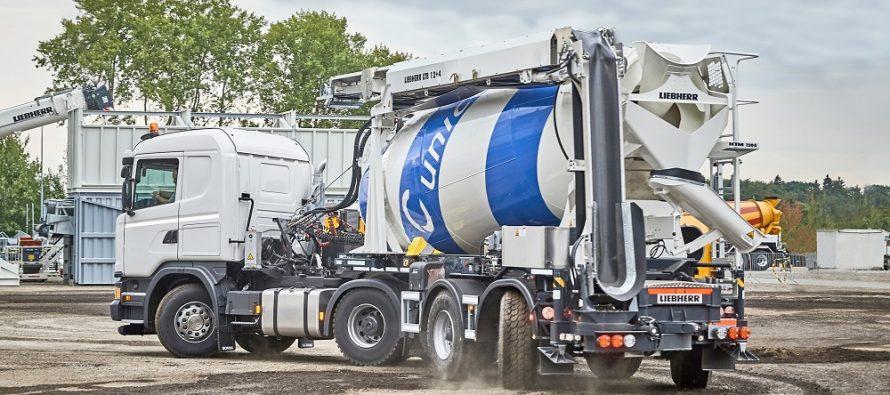 Liebherr oferă un nou mixer de beton pe semiremorcă