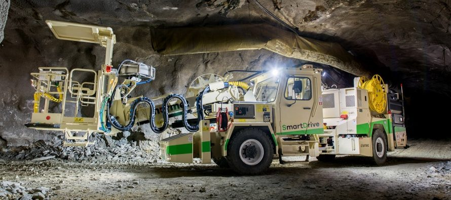 Normet making history by doing underground explosives charging on batteries