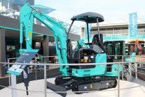 Kobelco a prezentat la Bauma 2019 conceptul de miniexcavator electric 17SR