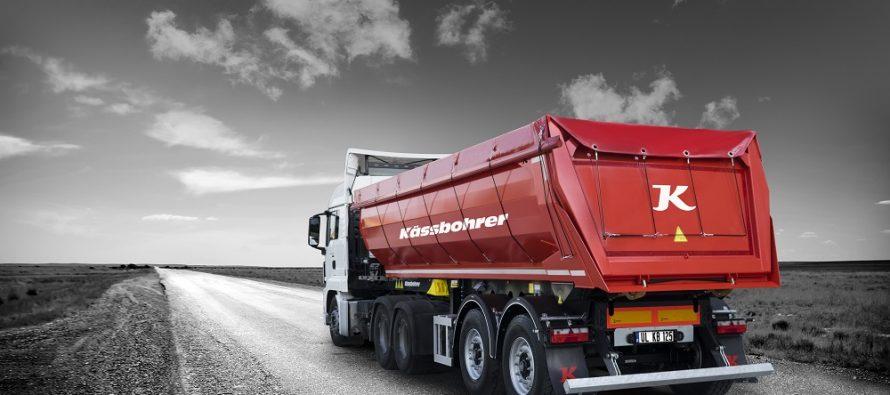 Kässbohrer showcased its brand-new, robust 2 axle steel tipper, K.SKS B for construction