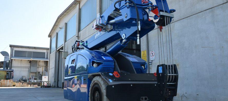 Valla a introdus o nouă macara electrică pick-and-carry de 8 t capacitate