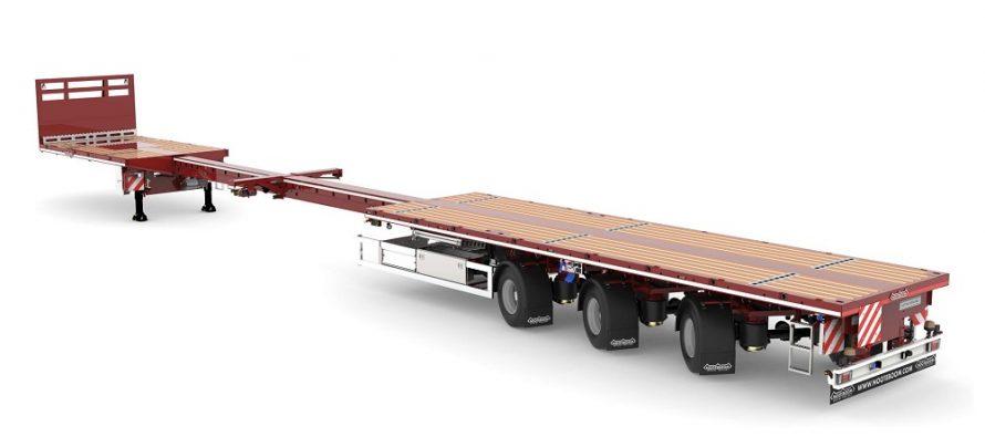 Nooteboom introduce semiremorca Teletrailer Longrunner