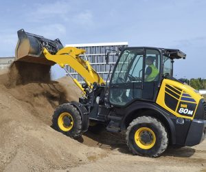 Komatsu Europe has launched the WA80M-8 compact wheel loader