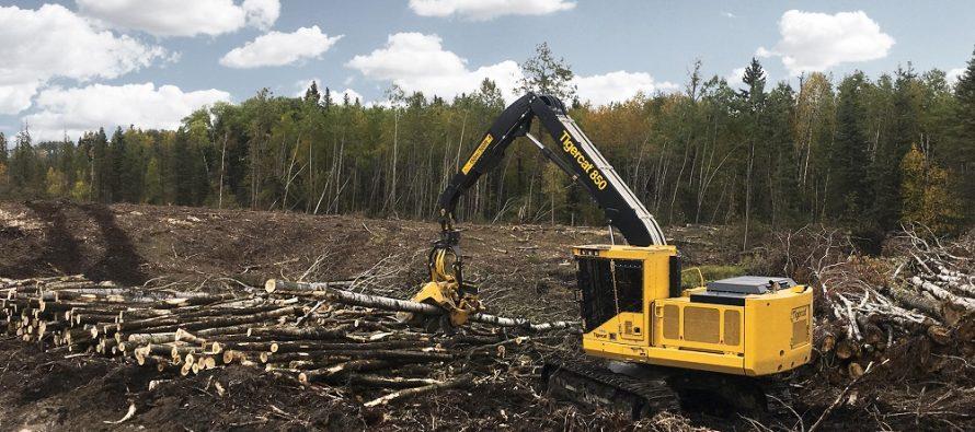 Tigercat lansează excavatorul forestier de procesare model 850