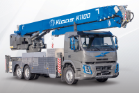 Klaas is introducing the new and impressive K1100 RSX mobile aluminum crane