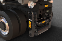 Stabilizator vertical și sistem de cântărire, pe camioanele echipate cu încărcătoare cu cârlig Hyva Titan