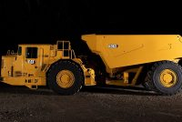 The new AD63 is the largest underground truck in the Caterpillar product line