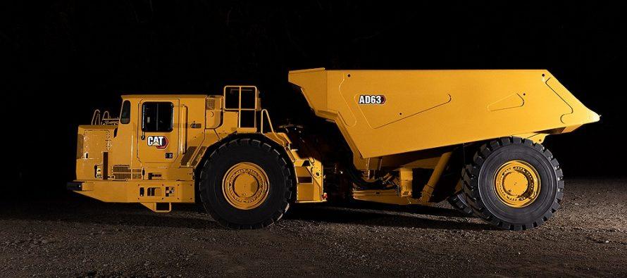 Noul Cat AD63 este cel mai mare camion subteran din linia de produse Caterpillar