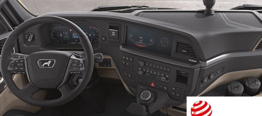 Postul de condus al noii generații de camioane MAN, distins cu premiul Red Dot pentru design