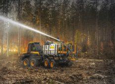 Ponsse introduce o echipare de forwarder pentru stingerea incendiilor vegetale