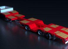 Nooteboom introduce o nouă semiremorcă ușoară extensibilă, cu nișe pentru roți
