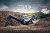 Terex Ecotec își extinde oferta de ciururi rotative odată cu lansarea noului model TTS 518